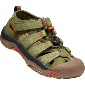 Keen Newport H2 Sandals Youth olive drab/orange